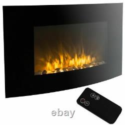 1500w Electric Fire Place Wall Mounted Fireplace Heater with Remote Control