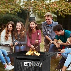 28 30 Outdoor Propane Fire Pit Patio Gas Camping Table Fireplace 50000BTU Table