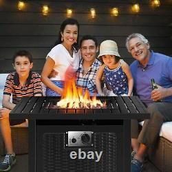 28 or 30 Outdoor Fireplace Propane Fire Pit Patio Gas Camping Table 50,000BTU