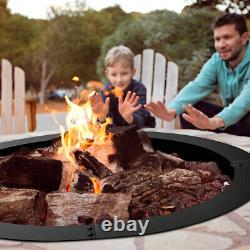 36 Inch Round Steel Fire Pit Ring Liner DIY Wood Burning Insert for Outdoor