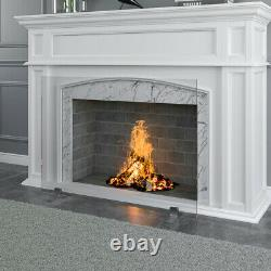 36in x 27in Single Panel Tempered Glass Fireplace Screen Freestanding Fire Place
