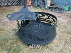3 in 1 Outdoor Garden Firepit BBQ Grill Stove Heater Patio Fire Pit Metal