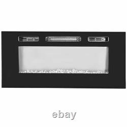 40 1500W Dual Insert / Wall Mount Electric Fireplace Heater Color Flame +Remote