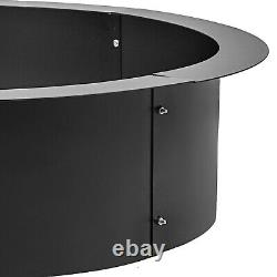 45 Round Steel Fire Pit Ring Liner DIY Wood Burning Insert Outdoor In-Ground