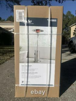 48000 BTU Stainless Steel Patio Heater with Wheels Brand New FREE FAST SHIPPING