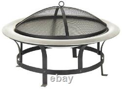 Acapulco Fire Pit Bowl for Garden BBQ Patio Heater Stainless Steel Firepit