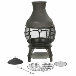 Bali Outdoor Chiminea Fireplace Patio Fire Pit Wood Burning Heater Iron Gift New
