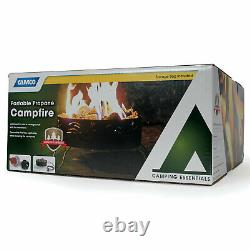 Camco Portable Campfire Outdoor Propane Heater Fire Pit with Lava Rocks, Black