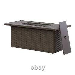 Extra Large Patio Dining Fire Table Outdoor Propane Gas Fire Pit Warmer Heater