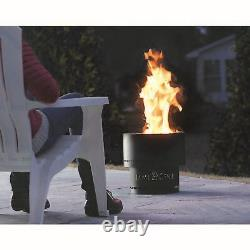 Flame Genie FG-19 Flame ULTIMATE FIRE INFERNO Wood Pellet Fire Pit (Black) NEW