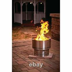 Flame Genie ULTIMATE Smokeless FIRE INFERNO STAINLESS STEEL Wood Pellet Fire Pit