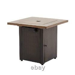 Gas Fire Pit Mainstays Laurel 28 Outdoor Square Patio Heater