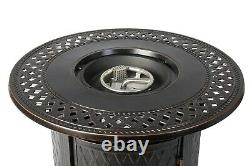 Gas Fire Pit Table For Outside Patio Round Propane Metal Fire Pit With Lid