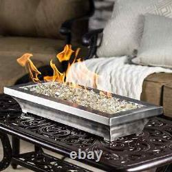 Lakeview Lavelle 18-Inch Table-Top Natural Gas Fire Pit Stainless Steel