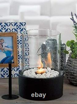 Metal Tabletop Heater Patio Deck Gas Fireplace Fire Pit Propane Bowl Outdoor NEW