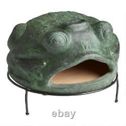 Outdoor Pizza Oven Wood Fired Green Frog Terracotta for Home Garden NEW