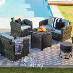 Outdoor Propane Fire Pit Patio Gas Table 28 Square Fireplace 50,000BTU tr