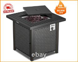 Outdoor Table 28 inch 50,000 BTU Propane Fire Pit Table Outdoor heating Hot Item