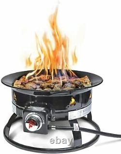 Outland Firebowl 893 Deluxe Outdoor Portable Fire Pit 19in Diameter 58,000 BTU