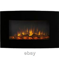 Regal Flame Broadway 35 Log Ventless Heater Electric Wall Mounted Fireplace