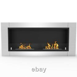 Regal Flame Fargo 43 Inch Ventless Built In Recessed Bio Ethanol Wall Mounted