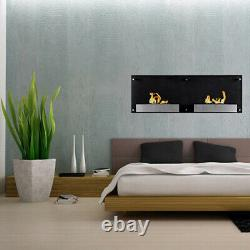 Regal Flame Mora 47 Ventless Real Flame Fire Bio Ethanol Wall Mounted Fireplace