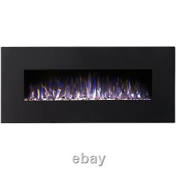 Regal Flame Rigel Black 50 Pebble Ventless Heater Electric Wall Mounted Fire