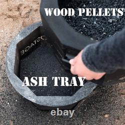 Smokeless Fire Bowl Pit for Outdoor Wood Pellet Burning Spark with Portable Carr