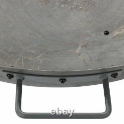 Sunnydaze 34 Fire Pit Cast Iron with Steel Finish Wood-Burning Fire Bowl