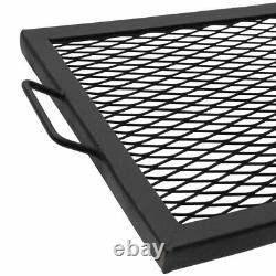Sunnydaze Cooking Grate X Marks Heavy-Duty Steel Rectangle Fire Pit Grill 36