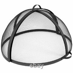 Sunnydaze Spark Screen 40 Diameter Steel Easy Access Lid Protector for Fire Pit