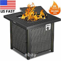 TACKLIFE BBQ Tool Grill Propane Gas FirePit Table Outdoor Garden Cooking Camping