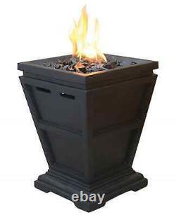 Tabletop Propane Gas Fire Pit 10.5 in. Square Outdoor Patio LP Firepit Bronze