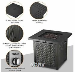 Tacklife Outdoor Heating, Propane Fire Pit Table, 28inch 50,000 BTU
