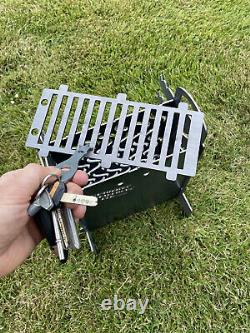The Kebab Cooker Bbq Log Burner Grill Outdoor Seating Fire Show Display Skewer