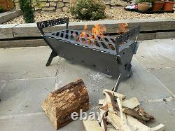 The Large Firelog Pit Firepit Fire Pit Portable Camping Collapsible Fire Log Bbq