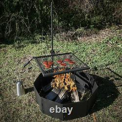 Titan Adjustable Swivel Grill Campfire Cooking Grate 40 Fire Pit Ring BBQ