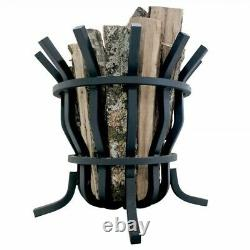 Titan Great Outdoors Self-Feeding Fire Pit Basket 1 x 1 Thick Solid Steel