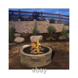 Wood Burning Fire Pit Stone Patio Covered Firepit Outdoor Backyard Fireplace NEW